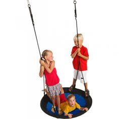 KBT Nest Swing Swibee - Black/Blue - Swings - Playground - Sports and Games