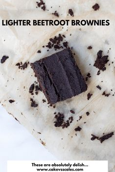 *Lighter* Beetroot Brownies ⋆ Cake Vs Scales from { { FeedTitle} }{ { EntryUrl} } Paleo Dessert, Dessert Recipes, Low Carb Brownie Recipe, Brownie Recipes, Beetroot Recipes, Brownie Cake, Chocolate Brownies, Low Carb Desserts, Vegan