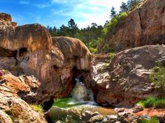 Jemez, New Mexico. Hot springs. Camping Site