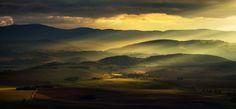A view from Szczeliniec to Owls Mountains and Klodzko valley, Poland. (© Pawel Uchorczak, Poland, 2013