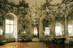 Munich's Top 10 : Schloss Nymphenburg - Amalienburg    Built by Cuviliés the Elder between 1734 and 1739 for Electress Amelia, this small hunting lodge is a masterpiece of European Rococo .