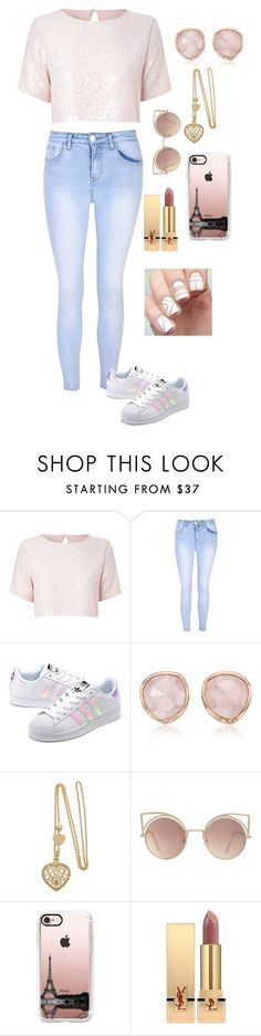 """""""Raquel"""" by briquel13287 ❤ liked on Polyvore featuring True Decadence, Glamorous, adidas Originals, Monica Vinader, MANGO, Casetify and Yves Saint Laurent"""