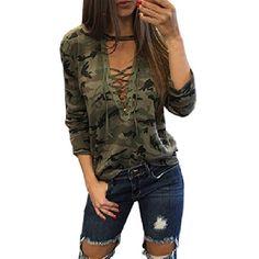5849f4482c8803 CWLSP 2017 Camouflage Fashion Women harajuku Sweatshirt Cross Tied Up  Hoodies Pullover Long Sleeve womens hoodies