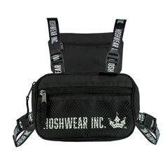 Shoulder Bag Chest Hoshwear Preta - Hoshwear Inc. Moda Streetwear, Medium Bags, Backpacks, Shopping, Accessories, Shoulder Bags, Grande, Products, Fashion