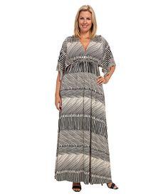 Rachel Pally Plus Plus Size Printed Long Caftan Dress White Label