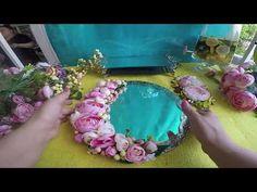 Tepsisi Çiçeği - Söz Nişan Tepsisi Süsleme - YouTube Trousseau Packing, Dollar Tree Decor, Marriage Decoration, Ring Pillows, Flower Shower, Flower Backdrop, Jewelry Holder, Wedding Season, Wedding Engagement
