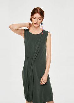 Pleated detail dress | MANGO