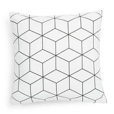 Housse de coussin en tissu blanche 40 x 40 cm CUBO