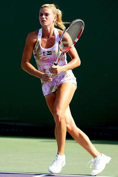 Camila Giorgi during the 2013 Sony Open in Key Biscayne, Florida. Camila Giorgi, Angelique Kerber, Tennis Association, Wimbledon Tennis, Beautiful Athletes, Tennis Championships, Sport Tennis, Sexy Poses