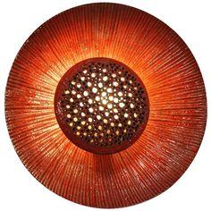 Large Ceramic Flower Lamp By Sejer Denmark For Sale