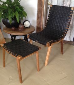 Teak & Tyre Danish Chair and Stool