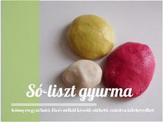 Gyurmavarázs: szuper gyurmák házilag   A napfény illata Salt Dough, Slime, Crafts For Kids, Clay, Homemade, Fruit, Vegetables, Food, Crafting