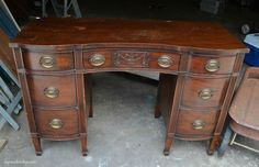 This Old Desk Got a Major Face-Lift In Just a Few Simple Steps  - CountryLiving.com