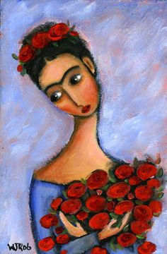 Wendy Ryan Folk Art Blog: Frida Kahlo PaintingTimes Two!