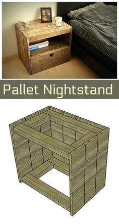 Pallet Nightstand - Pallet Furniture Ideas with 25 Complete DIY Projects - Page 3 of 3 - I Heart Crafty
