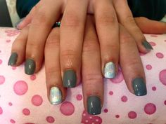 #nails #madebyme #grey #silver