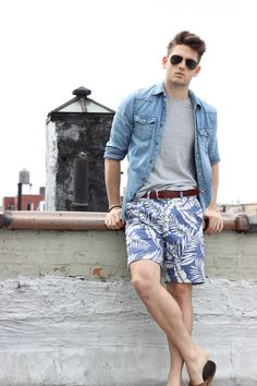 83f4be2372717 YouTube creator Tim Bryan pairs his favorite 8″ Printed Prep Short with  denim and a. Fashion ImagesMale ...