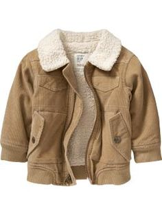 Sherpa-Lined Canvas Jackets for Baby | clothes for boys ...