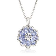 1.45 ct. t.w. Tanzanite Pendant Necklace in Sterling Silver. 18""