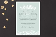 White Shadows Wedding Invitations by Inkwell Design Studio at minted.com