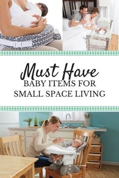 Living in a small space doesn't have to be challenging with children. Here is a list of baby gear items fit for your tiny home or small apartment. Small Space Nursery, Small Space Living, Small Spaces, Small Baby Space, Small Baby Nursery, Baby Nursery Organization, Small Space Organization, Organization Ideas, Storage Ideas