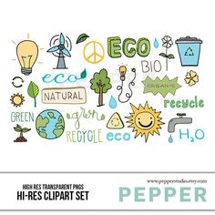 Earth and Energy Clipart Set - Eco Energy Solar Recycle Wind Power, Hi Res Printable Ink Doodle Illu - Products - Geothermal Energy Clipart, Renewable Energy, Solar Energy, Solar Power, Doodle Images, Online Scrapbook, Ink Doodles, Geothermal Energy, How Do You Find