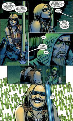Harley Quinn taken prisoner by Green Arrow