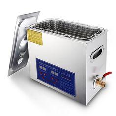 Stainless Steel 6L Liter Industry Heated Ultrasonic Cleaner Heater w/Timer 110V | eBay