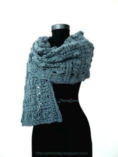 PDF DOWNLOAD Crochet shawl pattern Stole pattern by PatternsDG