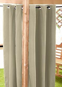 Stone 140 x Outdoor Curtain Eyelet Panel Garden Décor Drape Patio Shade Ready Made Eyelet Curtains, Outdoor Buildings, Patio Shade, Outdoor Curtains, Gazebo, Outdoor Living, Living Spaces, Home And Garden, Summer Houses