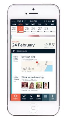 iOS agenda with drive time 2