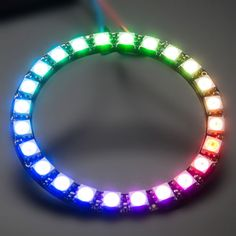 WS2812B-5050-RGB-LED-Ring-24Bit-RGB-LED-Integrated-Drivers-For-Arduino
