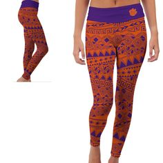Clemson Tigers Yoga Pants by VictoryTailgateUSA on Etsy