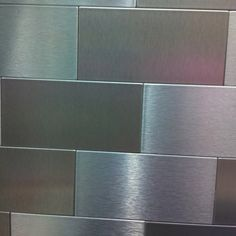 Back splash!  Stainless just like my Dad creates them!