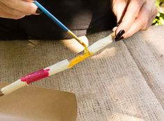 DIY Nature Craft/ Painted Sticks/ Moonfrye