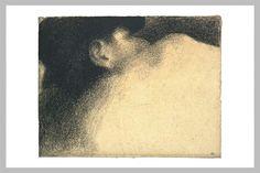 Dormir de la mujer - Georges Seurat. Puntillismo