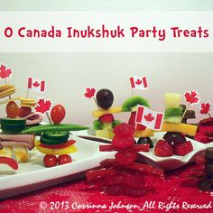 Canada Inukshuk Treats © 2013 Corrinna Johnson, All Rights Reserved. Igloo Craft, Canadian Party, Sugar Cubes, Canada Day, Party Treats, Teaching Kids, Homeschool, Appetizers, Teacher