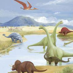 Dinosaur Lake by Oopsy daisy