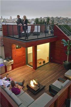 Roof Deck Sustainable Rooftop Studio Peek Ancona San Francisco, CA