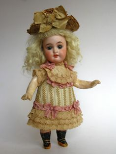 Tiny Dress for Antique French or German Doll   eBay