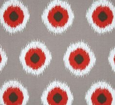 Ikat Polka Dot Pillow Cover by PillowsPiledHigh on Etsy