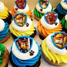 Throw an exceptional get-together for your children's birthday party with these 7 fascinating paw patrol party ideas. The thoughts must be convenient to those who become the true fans of Paw Patrol show. Bolo Do Paw Patrol, Torta Paw Patrol, Paw Patrol Cupcakes, Paw Patrol Birthday Cake, Paw Patrol Party, Boy Birthday, Paw Patrol Cupcake Toppers, Cupcakes For Boys, Birthday Cupcakes