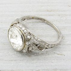 2.33 Carat Vintage Diamond Engagement Ring Circa 1905