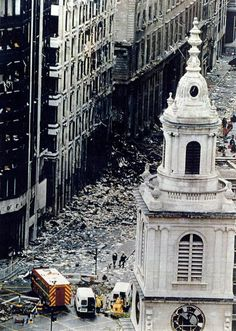 Bishopsgate in the aftermath of the IRA bomb in 1993.