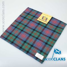 Logan Tartan Pocket Square. Free Worldwide Shipping Available
