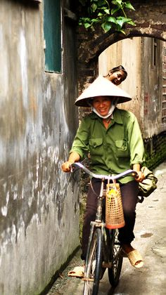 Cycling through Hanoi, Vietnam