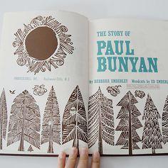 Paul Bunyan - Ed Emberly's woodcut awesomeness
