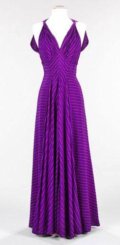 "Elizabeth Hawes – Fashion Radical | Coletterie An 1938 evening dress by Elizabeth Hawes, entitled ""La Gaulois"". Love that color!"