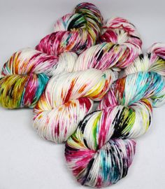 Speckled Yarn - Squish DK - 250 yards -  Hand Dyed Superwash Merino Yarn - Graffiti