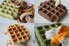Healthy Cookies, Healthy Desserts, Dessert Recipes, Paleo Waffles, Pancakes And Waffles, Menu Café, Healthy Lunch To Go, Salty Foods, Breakfast Snacks